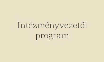 Intézményvezetői program 2021-2026